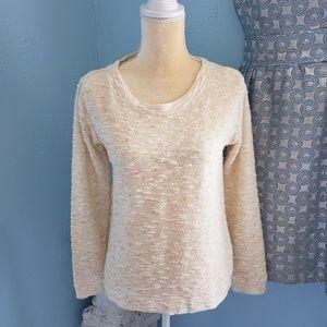 Jessica Simpson cotton blend cream gold top
